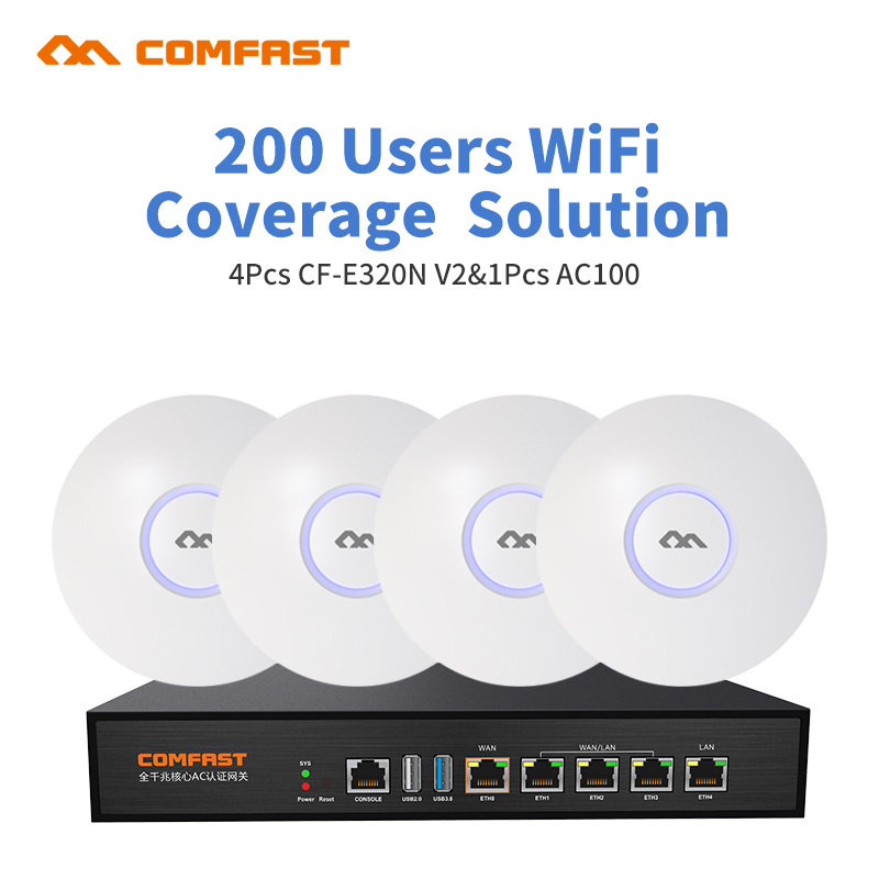 все цены на DHL free For Office Supermarket Wifi Project Coverage 800 Square 200user 4pcs Comfast indoor AP 1pcs AC Wifi Management Router онлайн