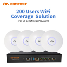 DHL free For Office Supermarket Wifi Project Coverage 800 Square 200user 4pcs Comfast indoor AP 1pcs AC Wifi Management Router
