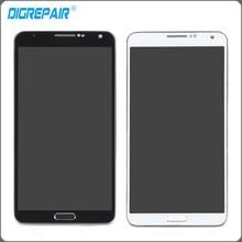 Negro Blanco Para Samsung Galaxy Note 3 N900P Pantalla LCD Monitor de Panel de Pantalla Táctil Digitalizador con Marco Asamblea de Cristal Partes