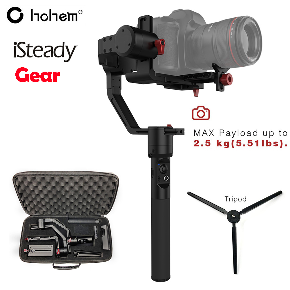 Hohem iSteady Gear 3 Axis Handheld Gimbal Stabilizer for DSLR Mirroless Camera Payload 2.5KG Timelapse PK Zhiyun Crane Plus V2