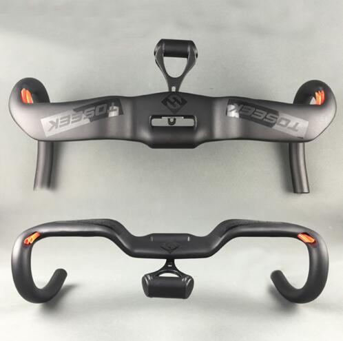2017 TOSEEK UD Matte Full Carbon Fiber handlebar Integrated Road Bicycle Handlebar Broken Wind Bent bars 31.8*380/400/420/440mm matte full ud carbon fiber bicycle seat