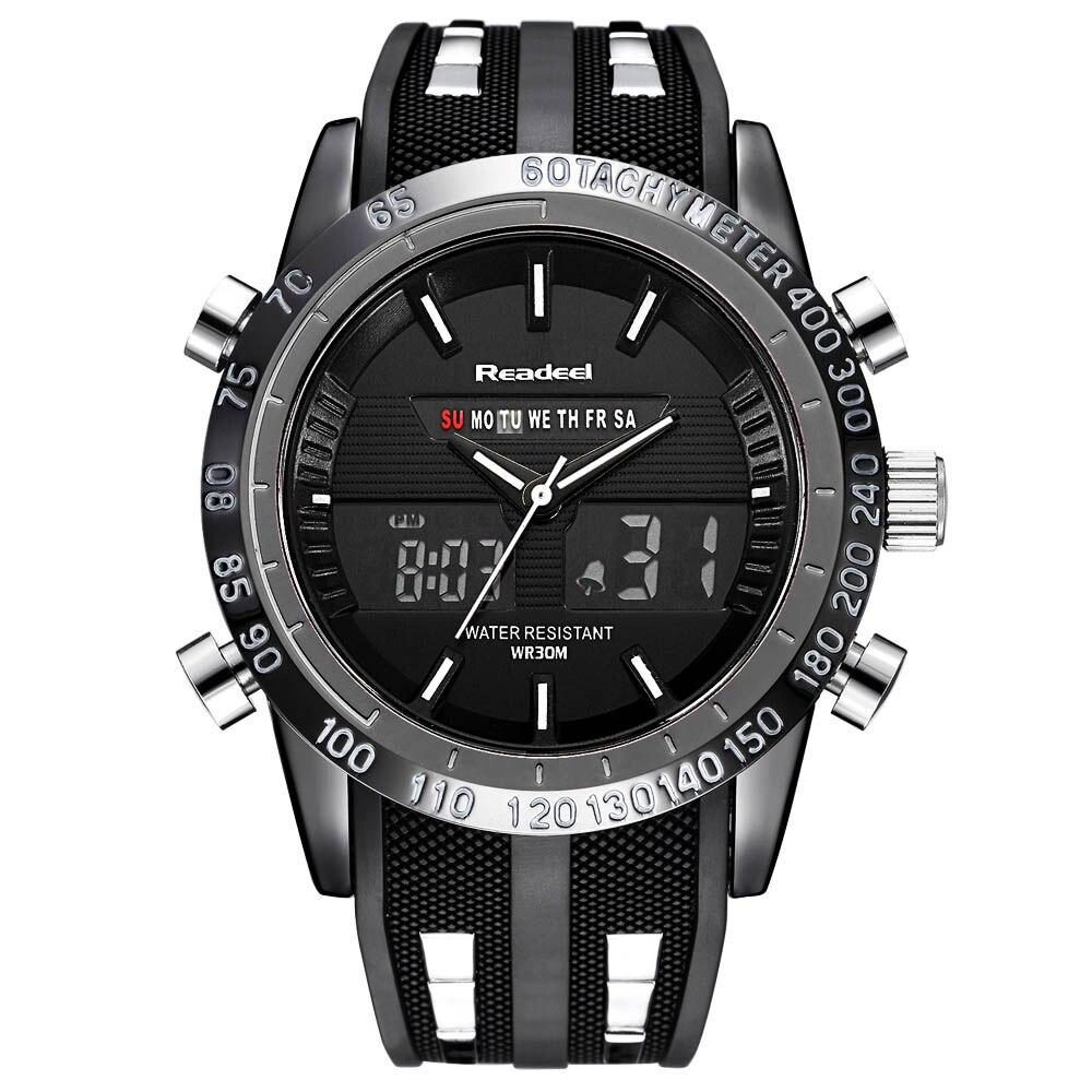 Top Luxury Brand Zegarki Mężczyźni LED Cyfrowy Wojskowy - Męskie zegarki - Zdjęcie 2
