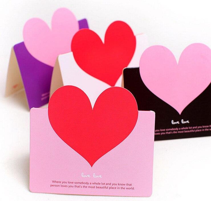 Hot Sale10 Pcslot Greeting Card Love Heart Creative Diy Stereo