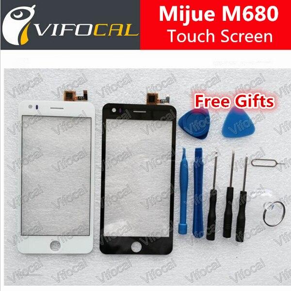 imágenes para Mijue M680 pantalla táctil + Herramientas Set 100% nuevo Digitalizador panel de vidrio para M680 960x540 5.0 pulgadas de teléfono Reemplazo del conjunto