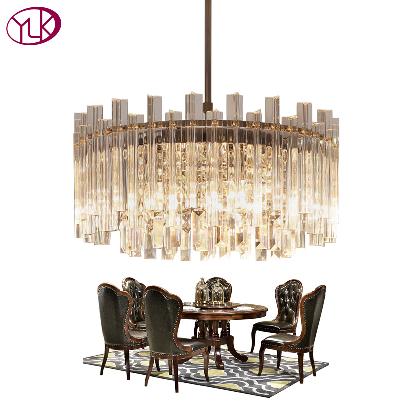 Youlaike Luxury Modern Crystal Chandelier Dining Room Chrome LED Crystal Lamp Dia50cm Home Decoration Lighting Fixture new luxury home crystal pendant lamp modern lighting dia50cm dia65cm crystal lamps coffee light