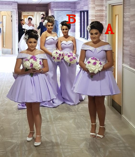 Lilac Wedding Party Guest Dress Woman Plus Size Bridesmaid Dresses