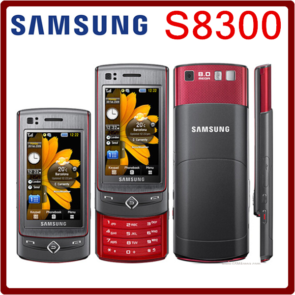S8300 Original Unlocked Samsung S8300 GPS 8MP 2.8 Inch`` 3G GPS Mobile Phone No Russian langauge Free Shipping