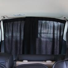 2PCS Universal Car Rear Window Sunshade Curtain Flexible Aluminum Alloy Auto Window Curtain Sun Visor Blinds