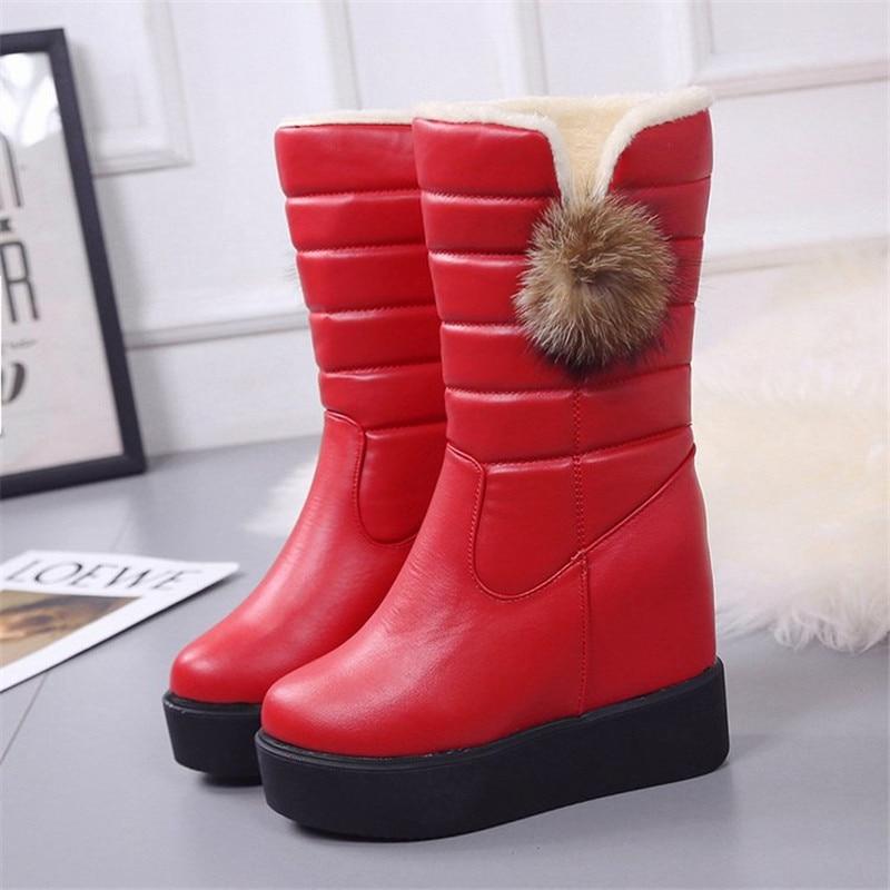 Cabe Ture Botas Cortas Invierno Nieve Marca 4 1 La 2 Zapatos Del Más Mujeres Tamaño Cuero Pu 2019 3 De Normal Caliente Moda Piel Vaca wOq7zxY