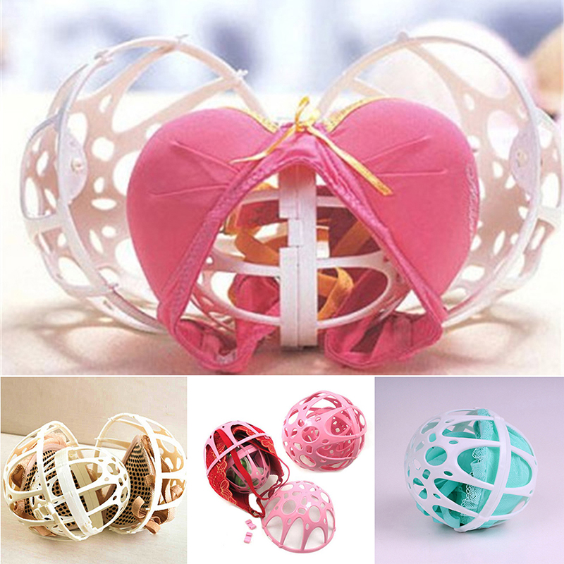 1pc Double Spherical Bra Washing Bag Bra Protector Laundry Basket Women Underwear Washer Saver Ball Shape Clothes Wash Bags