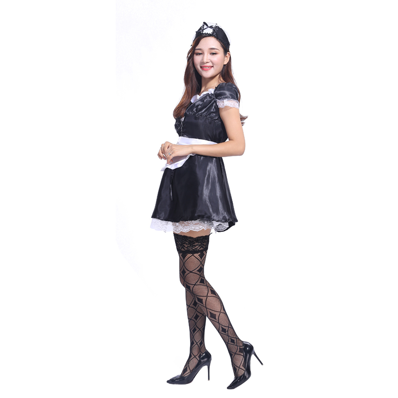 The new adult Halloween costume masquerade Temptation maid sexy stage costumes Cosplay Temptation maid clothes