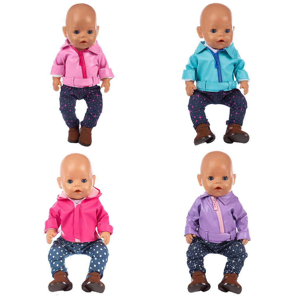3pcs In 1, New Jacket Suit Fit For 43cm  Dolls 17inch Reborn Baby Clothes And Accessories