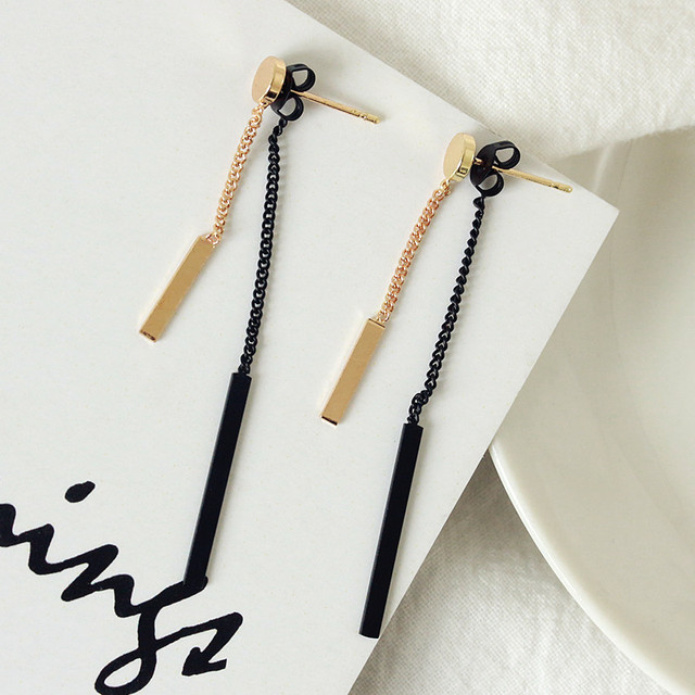 Korean version of the new fashionable metal chain ladies temperament long tasseled earrings earrings summer Earrings.jpg 640x640 - Korean version of the new fashionable metal chain ladies temperament long tasseled earrings earrings summer Earrings Jewelry