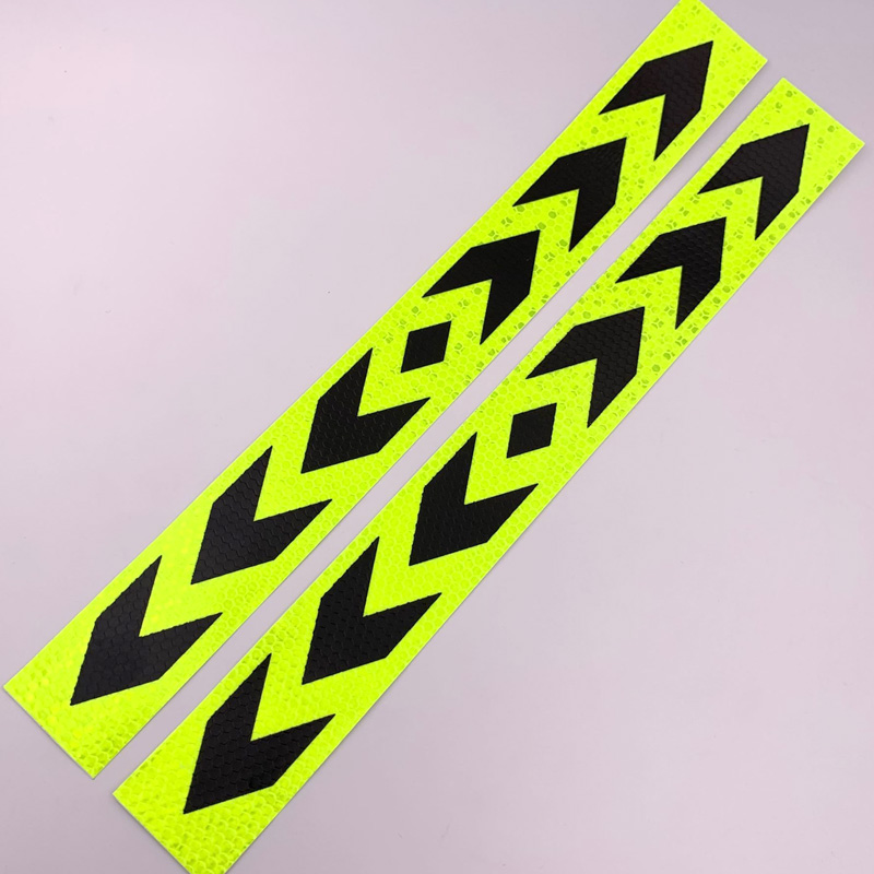 Moto accessory Reflective Stickers Motorcycle Safety alert Lattice decal in Decals Stickers from Automobiles Motorcycles