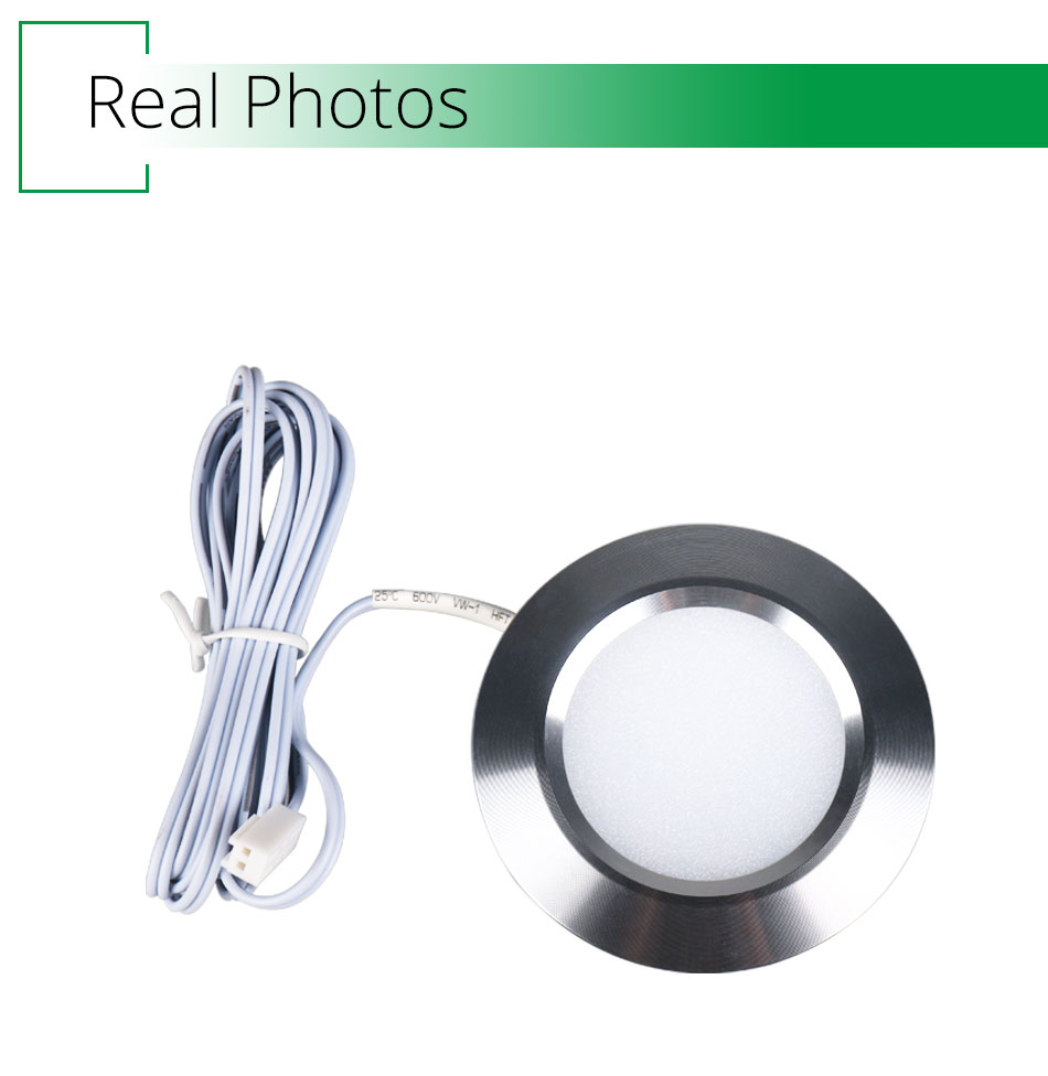 12PCS 12V LED Cabinet Light Round Aluminum Puck  Lamp Under kitchen Cupboard Shelf  Cabinet Lighting Light Fixture Indoor Lamps (3)