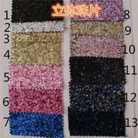 Synthetic Solid Glitter PVC Leather Fabrics