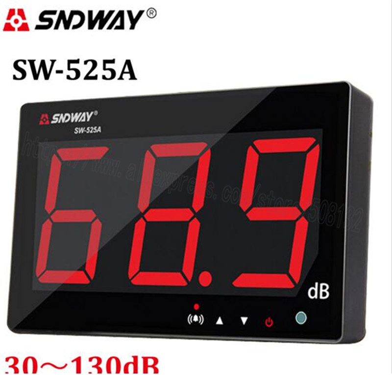 SNDWAY SW 525A Digital Sound level meter 30 130db large screen display Restaurant Bar office home