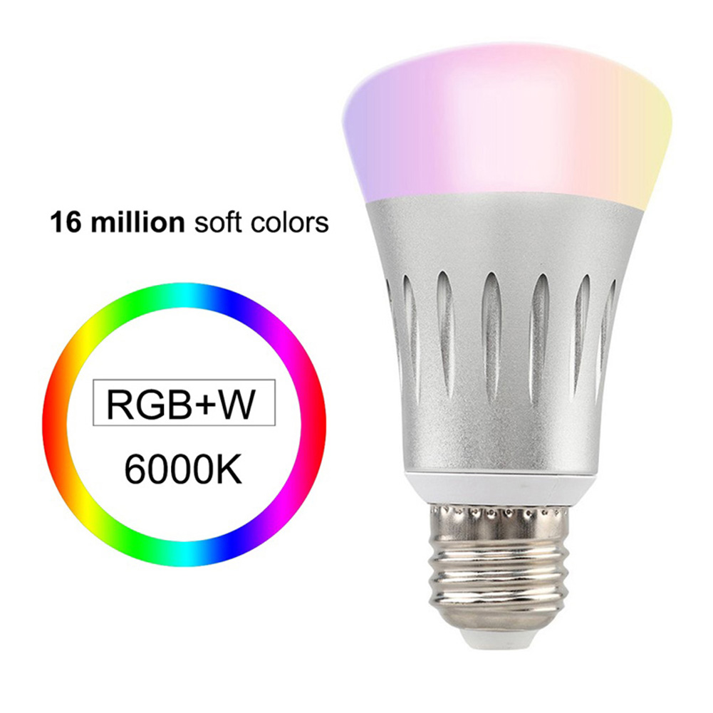 E27 E26 B22 E14 Wi-Fi Smart LED Light Bulb Dimmable 7W Smartphone Control Multicolor Changing Lights Bulbs ALI88