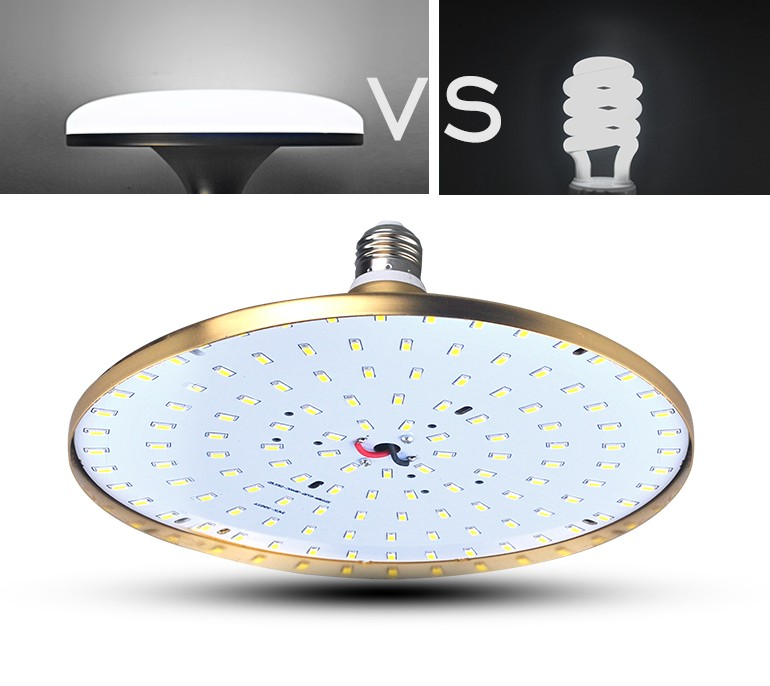 Купить с кэшбэком LED white warm light high power UFO E27 bedroom living room ceiling lamp factory workshop lighting home energy-saving light