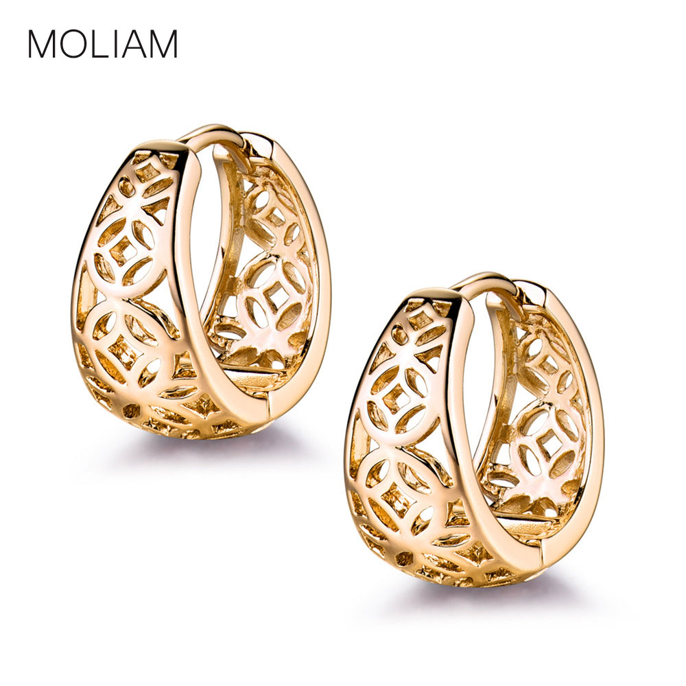 Moliam New Fashion Designer Womens Earring Vintage Stylish Hollow Hoop  Earing For Ladies High Quality Jewellery Gift Mle403