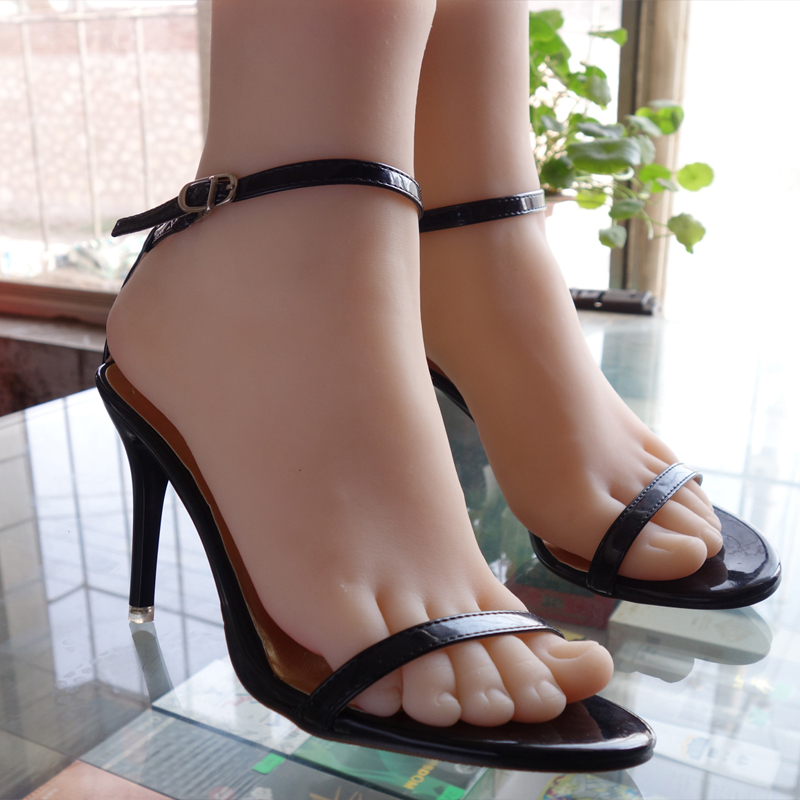 female silicone pussy fetish Fake Foot model normal skin 38# F804 newest lifesize female pussy feet women fake model cloned foot mannequin tanning skin