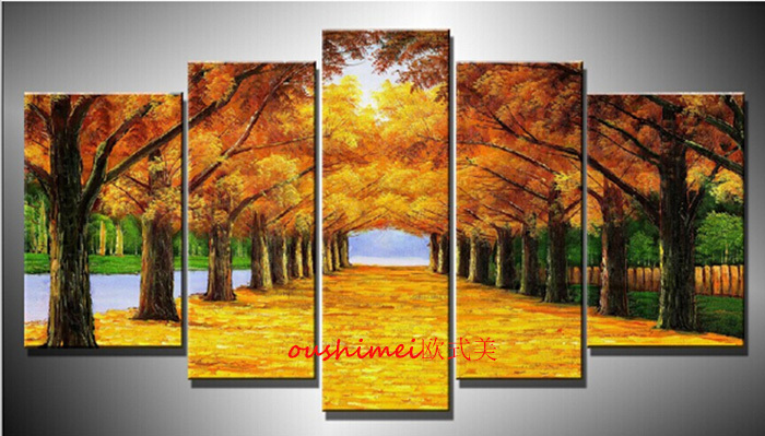 Hand Painted High Quality Modern Landscape Oil Painting On
