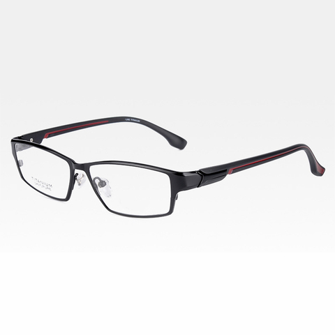 Reven Jate EJ267 Fashion Men Eyeglasses Frame Ultra Light-weighted Flexible IP Electronic Plating Metal Material Rim Glasses Islamabad