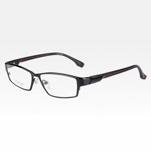 Image 4 - Reven jate ej267 moda masculino óculos quadro ultra leve ponderada flexível ip eletrônico chapeamento de metal material aro óculos