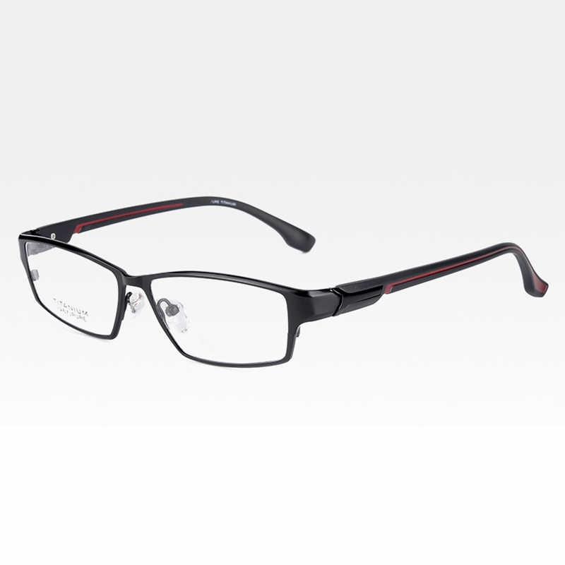 Reven jate ej267 moda masculino óculos quadro ultra leve-ponderada flexível ip eletrônico chapeamento de metal material aro óculos