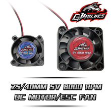 цена 25/40mm 8000RPM 5V-7V DC Motor ESC fan heat sink for 30A 60A 120A 150A ESC 3660 4274 motor RC parts futaba plug