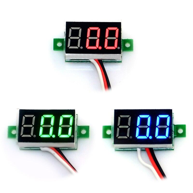DIY Mini Digital Voltmeter DC0-10V Panel Voltage Meter Tester 0.36inch Blue Red Green LED Display --M25