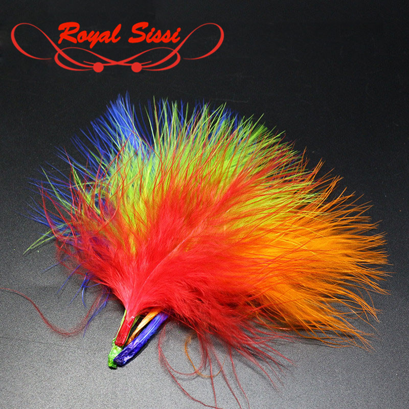 10Colors Turkey Marabou Blood Dyed Feathers Fly Fishing Tying Materials Isca Lures Making wooly Bugger flies body&tail material jgrt car styling led fog lamp 2005 2012 for nissan march led drl daytime running light high low beam automobile accessories
