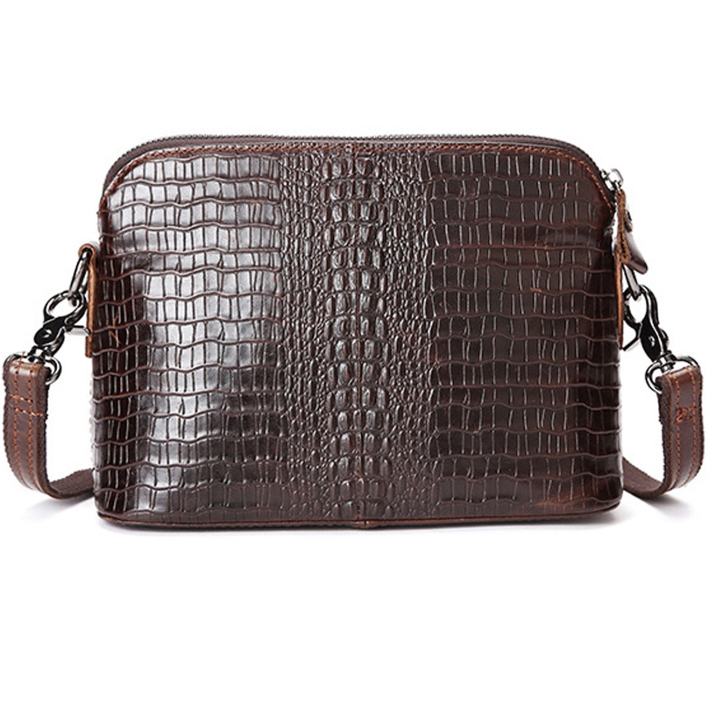 973c7ddf2e9 2016 Top Quality Genuine Leather First Layer Cowhide Crocodile Style Women  Messenger Shoulder Crossbody Luxury Trend Vintage Bag-in Shoulder Bags from  ...