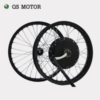 QS Motor Front And Rear Moped Wheel Rim Assembly Set