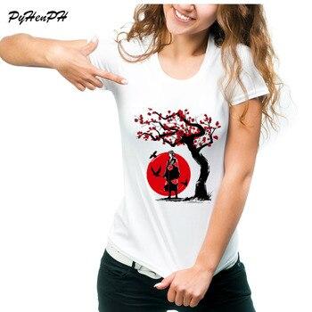 T-Shirt Das Mulheres de Verão de Manga Curta Anime NARUTO Ninja Sob O Sol Design de Alta Qualidade T Camisa Feminina Camiseta Legal Das Mulheres topos
