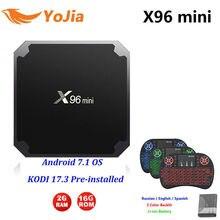 2GB16GB X96mini Android 7 1 TV BOX 1G8G X96 mini Amlogic S905W TV BOX Quad Core