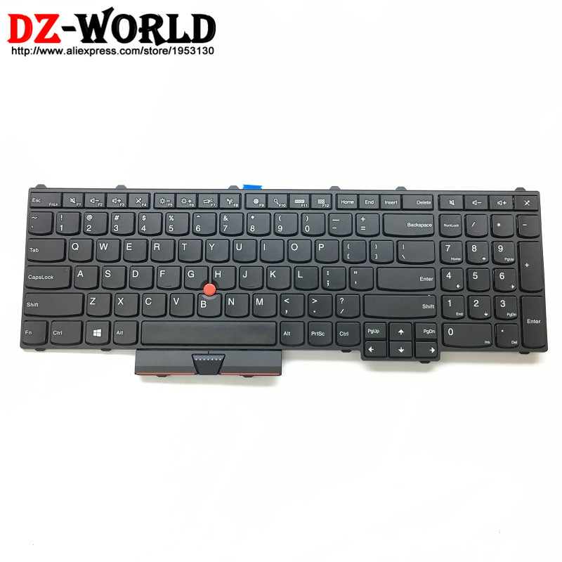 New Original for Lenovo Thinkpad P70 P50 US English Keyboard Teclado Non-Backlit 00PA329 00PA247 SN20H35238 new for lenovo ibm thinkpad p70 p70s series english us laptop keyboard