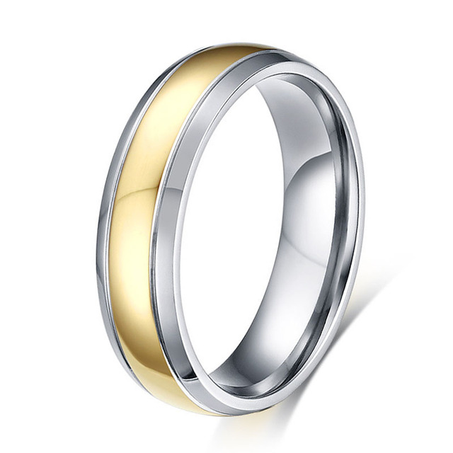 Gold Color Wedding Band Engagement Promise Ring Anium Vintage Costume Mens Jewellery