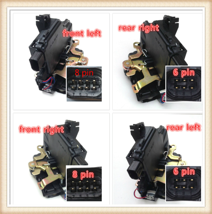 Door lock actuator 3B4839016A for VW Passat B5 Golf Jetta MK4 Beetle Door Lock Actuator Front Rear Left Right Side-in Locks & Hardware from Automobiles & Motorcycles