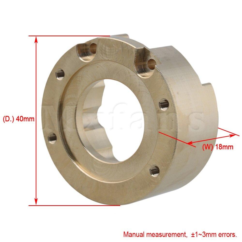 Mxfans D'or En Alliage D'aluminium T8630 Heavy Metal Knuckle Poids pour TRAXXAS TRX-4 RC1: 10 Rock Crawler Voiture Pack de 4