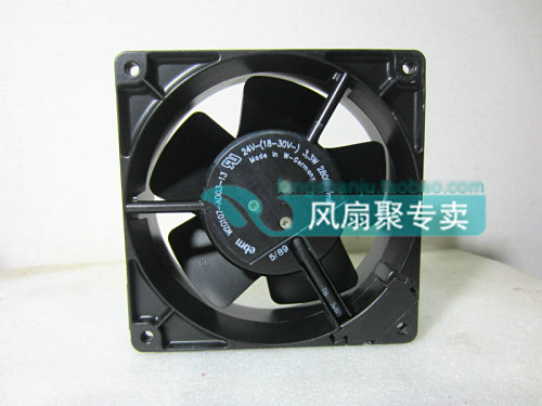 Original ebmpapst W2G107-AD03-13 12CM 12038 24V3.3W Full Metal cooling fan original typ4112n 31hha 12038 forced air cooling fan