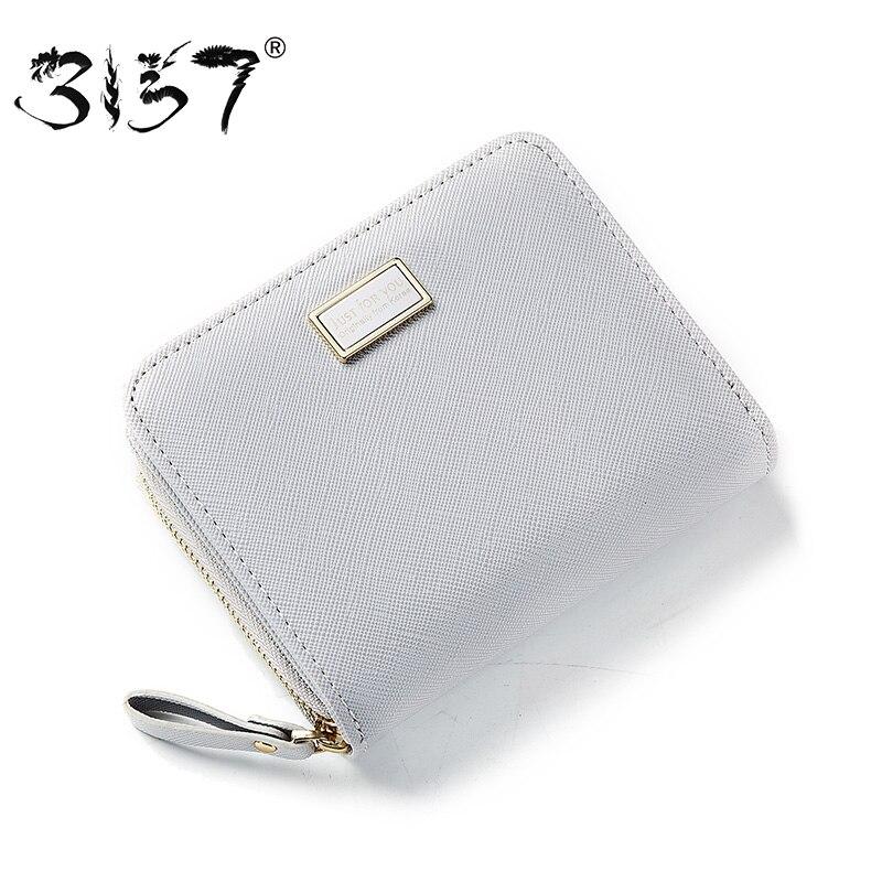 3157 frische Frauen Kreditkarte Brieftasche Weibliche Kleine Solide Zipper Geldbörse Für Mädchen Foto Halter Tasche 2018 Kurze leder Brieftaschen