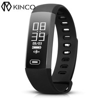 KINCO Bluetooth Blood Pressure Heart Rate Oxygen Monitor Smart Bracelet Waterproof Standard Motion Wristband For IOS