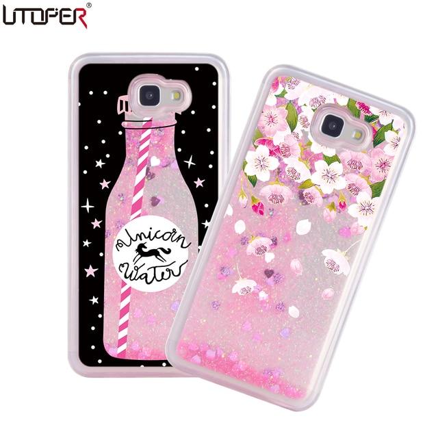 5a203370c0 US $4.14 |UTOPER Luxury Liquid Case For Samsung Galaxy J7 Prime Case  Glitter Dynamic Perfume Bottle Shell For Samsung Galaxy On7 2016 Case-in  Fitted ...