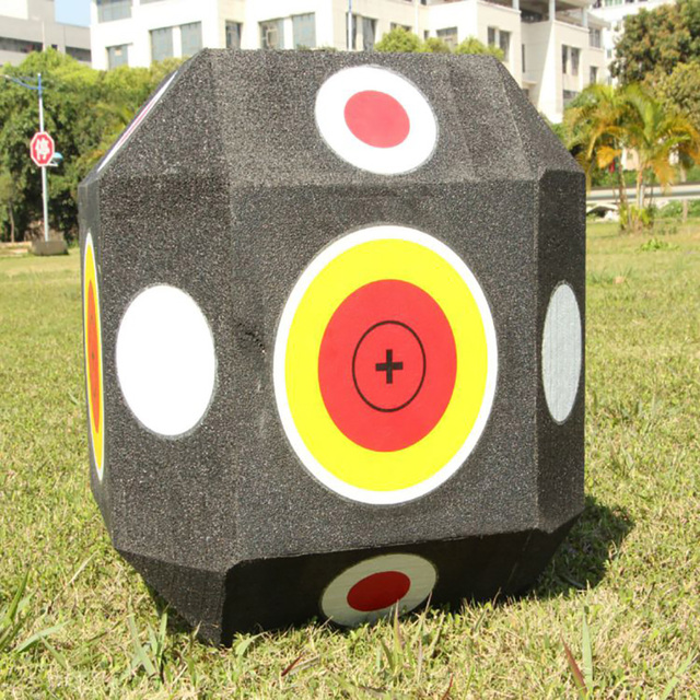 Big 3D Cube Reusable Archery Target Shooting Hunting Bow Suit Compound Recurve Bow Hunting Targets for All Arrow Types G170