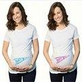 Verano Divertido Captain America Camisetas blanco de Maternidad Las Mujeres Embarazadas Tops Tees Ropa Embarazo maternidad apoyos de la fotografía