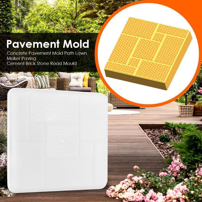 Concrete Pavement Mold Path Lawn Maker DIY Paving Mould Cement Brick Stone Home Garden Floor Road Mould