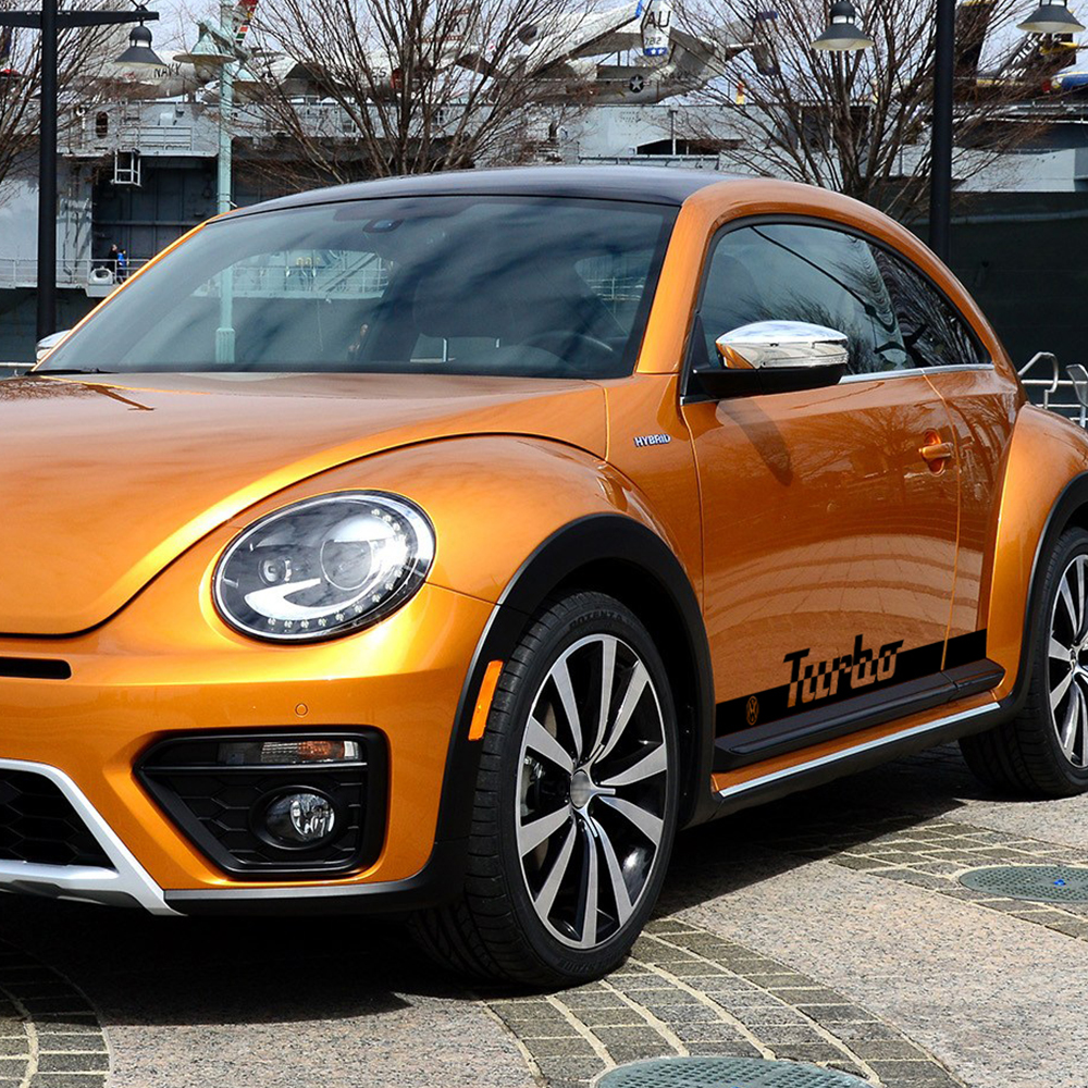 Volkswagen Beetle Turbo Price: 2 Pcs Racing Side Stripe Skirt Stickers Graphics Turbo