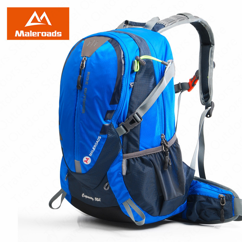 <font><b>Maleroads</b></font> Outdoor Hiking Backpacks <font><b>30L</b></font> Climbing Bag Ultralight Waterproof Cycling Bags Breathable Backpack Camping Sport Travel image