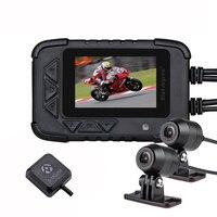 Blueskysea двойной 1080 P мотоцикл dvr Экшн камера рекордер ночного видения DV688 водонепроницаемый мотоцикл Даш камера мотоцикл Kamera